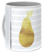 Gold  Pear - Art By Linda Woods Coffee Mug