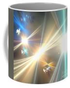 Gold Star Beams Coffee Mug