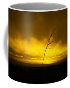 Gold Sunset And Grass Coffee Mug