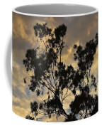 Gold Sunset Tree Silhouette I Coffee Mug