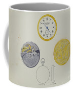 Gold Watch With Frame And Case Coffee Mug