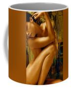Gold Woman Nude Crop 1 Coffee Mug