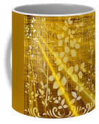 Golden And White Leaves Coffee Mug