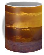 Golden Backlit Wave Coffee Mug