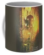 Golden Banjo Neck In Retro Folk Style Coffee Mug