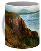 Golden Beach Cliff Side  Painterly Coffee Mug