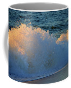 Golden Blue Splash Coffee Mug