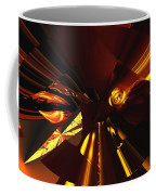 Golden Brown Abstract Coffee Mug