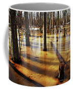 Golden Brown Frozen Pond Coffee Mug
