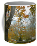 Golden Bus Stop Late Autumn Coffee Mug