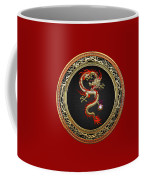 Golden Chinese Dragon Fucanglong Coffee Mug