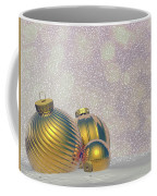 Golden Christmas Balls - 3d Render Coffee Mug