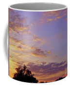 Golden Clouds At Sunset Coffee Mug