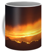 Golden Crested Clouds Coffee Mug