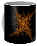 Golden Crosshatch Scribble  Coffee Mug