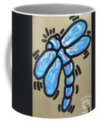 Golden Dragonfly Coffee Mug