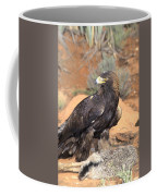 Golden Eagle On Rabbit Coffee Mug