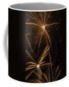 Golden Fireworks Coffee Mug