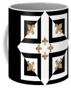 Golden Fleurs-de-lis Optical Illusion Coffee Mug