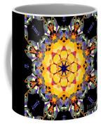 Golden Flower Abstract Coffee Mug