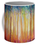 Golden Forest Hidden Unicorn - Large Original Oil Painting By Gill Bustamante Coffee Mug