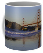 Golden Gate And Waves Coffee Mug