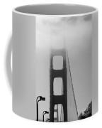 Golden Gate Bridge And Fog In Black And White Coffee Mug
