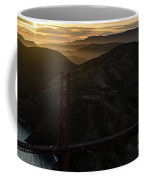 Golden Gate Bridge And Marin County At Sunset Coffee Mug