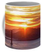 Golden Gate Bridge And San Francisco Bay At Sunset Coffee Mug