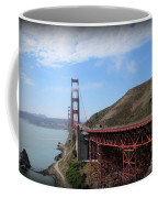 Golden Gate Bridge From The Scenic Lookout Point Coffee Mug