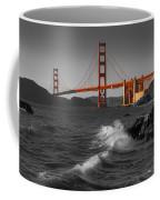 Golden Gate Bridge Sunset Study 1 Bw Coffee Mug