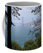 Golden Gate Bridge Through The Trees Coffee Mug