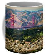 Golden Gate Bridge - Twin Peaks Coffee Mug