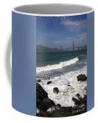 Golden Gate Bridge With Surf Coffee Mug