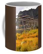 Golden Gras And Fish Drying Rack Coffee Mug by Heiko Koehrer-Wagner