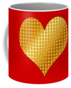 Golden Heart Red Coffee Mug