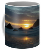 Golden Hour At Face Rock Coffee Mug
