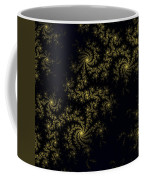 Golden Lace On Black Velvet Coffee Mug