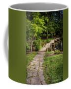 Golden Light On Footbridge Japanese Garden Maymont Coffee Mug
