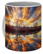 Golden Light On The Pond Coffee Mug