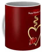Golden Metal Frame Heart Coffee Mug