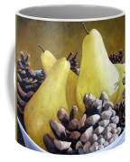 Golden Pears And Pine Cones Coffee Mug