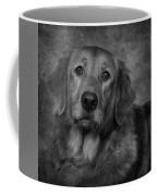 Golden Retriever In Black And White Coffee Mug