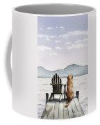 Golden Retriever On The Dock Coffee Mug