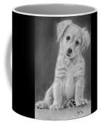 Golden Retriever Puppy Drawing Coffee Mug