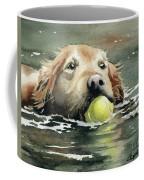 Golden Retriever Swimming Coffee Mug