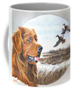 Golden Retriever With Marsh Scene Coffee Mug