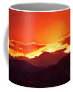 Golden Rocky Mountain Sunset Coffee Mug