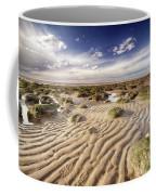 Golden Sand Lines And Seaweed Rocks Of Norfolk Coffee Mug
