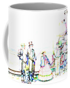 Golden Spike Railroad - Wating - 0749 J Coffee Mug